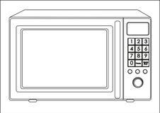 Illustratie van een microgolf Stock Fotografie