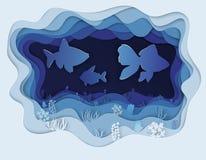 Illustratie van een mooie vis in een deurpost Royalty-vrije Stock Foto