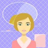 Illustratie van een mooie vrouw in de badkamers Stock Fotografie