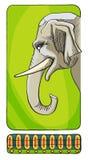 Illustratie van een olifant Royalty-vrije Stock Foto