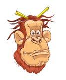 Illustratie van een orangoetan op een witte achtergrond stock illustratie