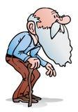 Het oude mens lopen Stock Afbeelding