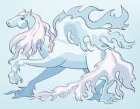 Illustratie van een Pegasus Stock Foto's