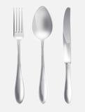 De lepel en het mes van de vork Stock Foto's