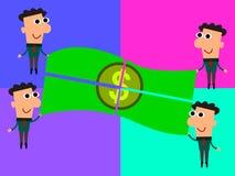 Het delen van onze winst vector illustratie
