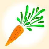 Illustratie van een rijpe oranje wortel Stock Afbeelding