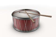 Illustratie van een rode trommel Royalty-vrije Stock Foto