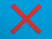Illustratie van een Rood Kruis op een Blauwe Achtergrond stock afbeeldingen