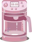 Illustratie van een roze koffiemachine Stock Foto's