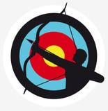 Illustratie van een schuttersdoel stock illustratie