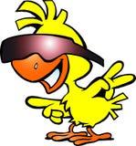 Illustratie van een slimme kip met sunglass Royalty-vrije Stock Afbeelding