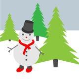 Illustratie van een sneeuwman Vector Illustratie