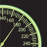 Illustratie van een snelheidsmeter Royalty-vrije Stock Foto