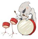 Illustratie van een spook-musicus beeldverhaal royalty-vrije illustratie