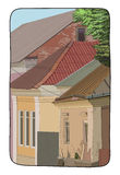 Illustratie van een straat Stock Foto's
