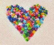 Illustratie van een super kleurrijk hart royalty-vrije stock foto