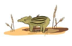 Illustratie van een Tapir Stock Foto