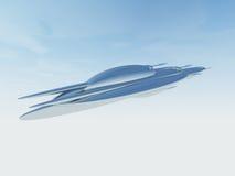 Illustratie van een UFOruimtevaartuig Stock Foto's
