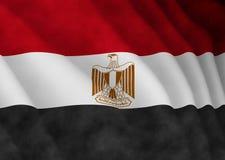 Illustratie van een vliegende Egyptische vlag stock illustratie