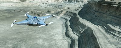 illustratie van een vliegende hommel Stock Afbeelding