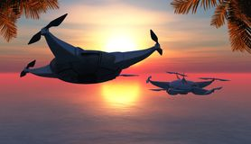 illustratie van een vliegende hommel Royalty-vrije Stock Fotografie
