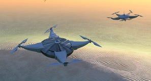 illustratie van een vliegende hommel Royalty-vrije Stock Afbeelding