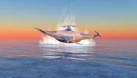 illustratie van een vliegende hommel Royalty-vrije Stock Afbeeldingen