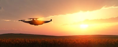 illustratie van een vliegende hommel Stock Foto