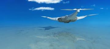 illustratie van een vliegende hommel Royalty-vrije Stock Foto's