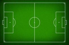 Illustratie van een voetbalgebied. Royalty-vrije Stock Foto