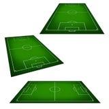 Illustratie van een voetbalgebied. Royalty-vrije Stock Afbeelding