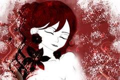 illustratie van een vrouw stock illustratie
