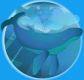 Illustratie van een walvis Stock Foto's