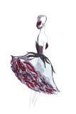 Illustratie van een wijfje in een modieuze kleding Stock Afbeelding