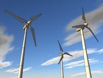 Illustratie van een windinstallatie Stock Afbeelding