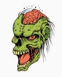 Illustratie van een zombie Stock Afbeeldingen