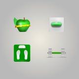 Illustratie van elementen van een gezonde levensstijl Stock Afbeeldingen