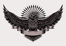 Illustratie van embleem met adelaar Royalty-vrije Stock Afbeeldingen