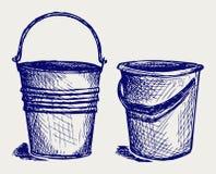 Illustratie van emmer Royalty-vrije Stock Afbeeldingen