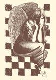 Illustratie van engel Stock Afbeelding