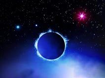 Illustratie van extragalactisch systeem Stock Afbeelding