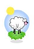 Illustratie van funky schapen. stock illustratie
