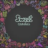 Illustratie van geïsoleerd geplaatst suikergoed stock illustratie