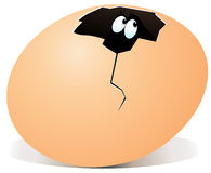 Illustratie van gebroken ei met binnen verrassing Stock Fotografie