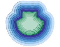 Illustratie van gelaagde shell in de oceaan Royalty-vrije Stock Foto