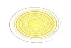 Illustratie van gele cirkel Royalty-vrije Stock Foto's