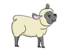 Illustratie van gelukkige schapen met zwart gezicht Royalty-vrije Stock Afbeeldingen