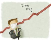 Illustratie van gelukkige zakenman Stock Afbeeldingen