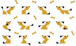 Illustratie van geometrische honden in duplex Royalty-vrije Stock Afbeeldingen
