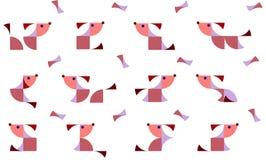 Illustratie van geometrische honden in duplex Stock Foto